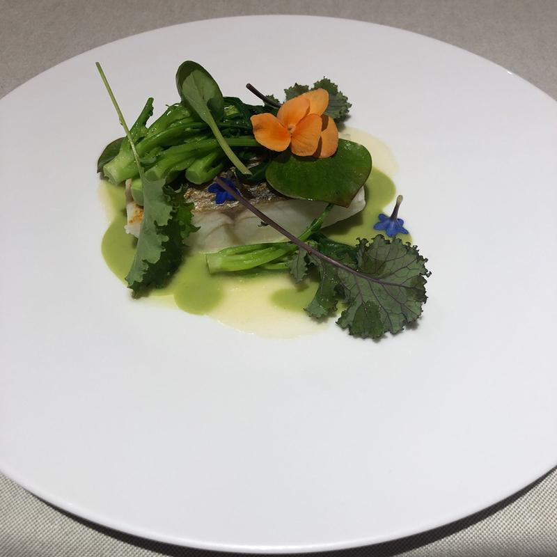 seasonal vegetables in Michelin menu