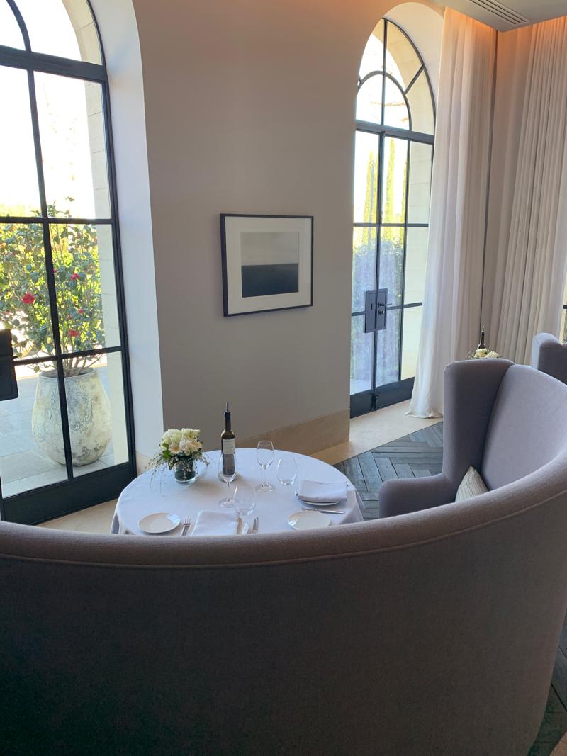 Villa La Coste dining
