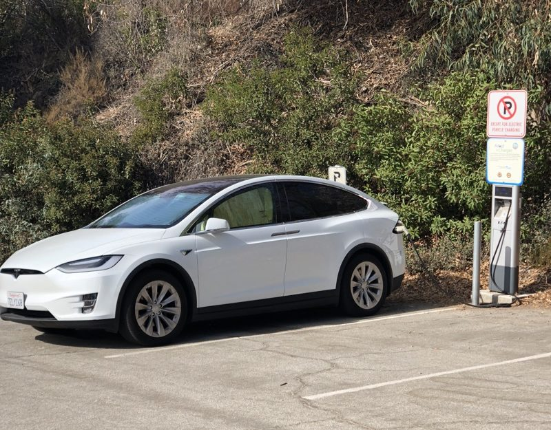 Tesla charging in California