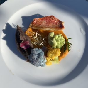 Red mullet at Le Cabanon Cap d'Ail