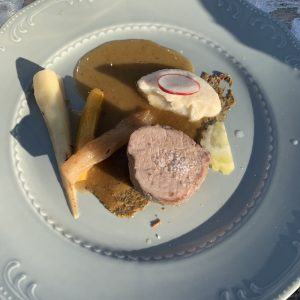 Veal at Le Cabanon Cap d'Ail