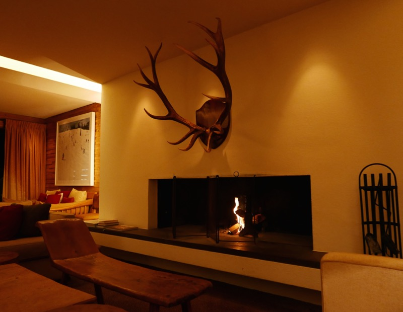Fireplace in the Alps