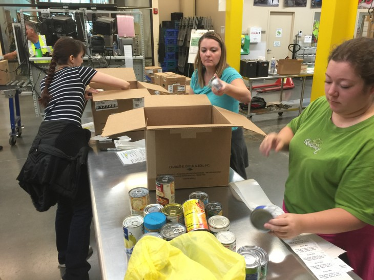 Sorting Food | LandCentral at the Oregon Food Bank