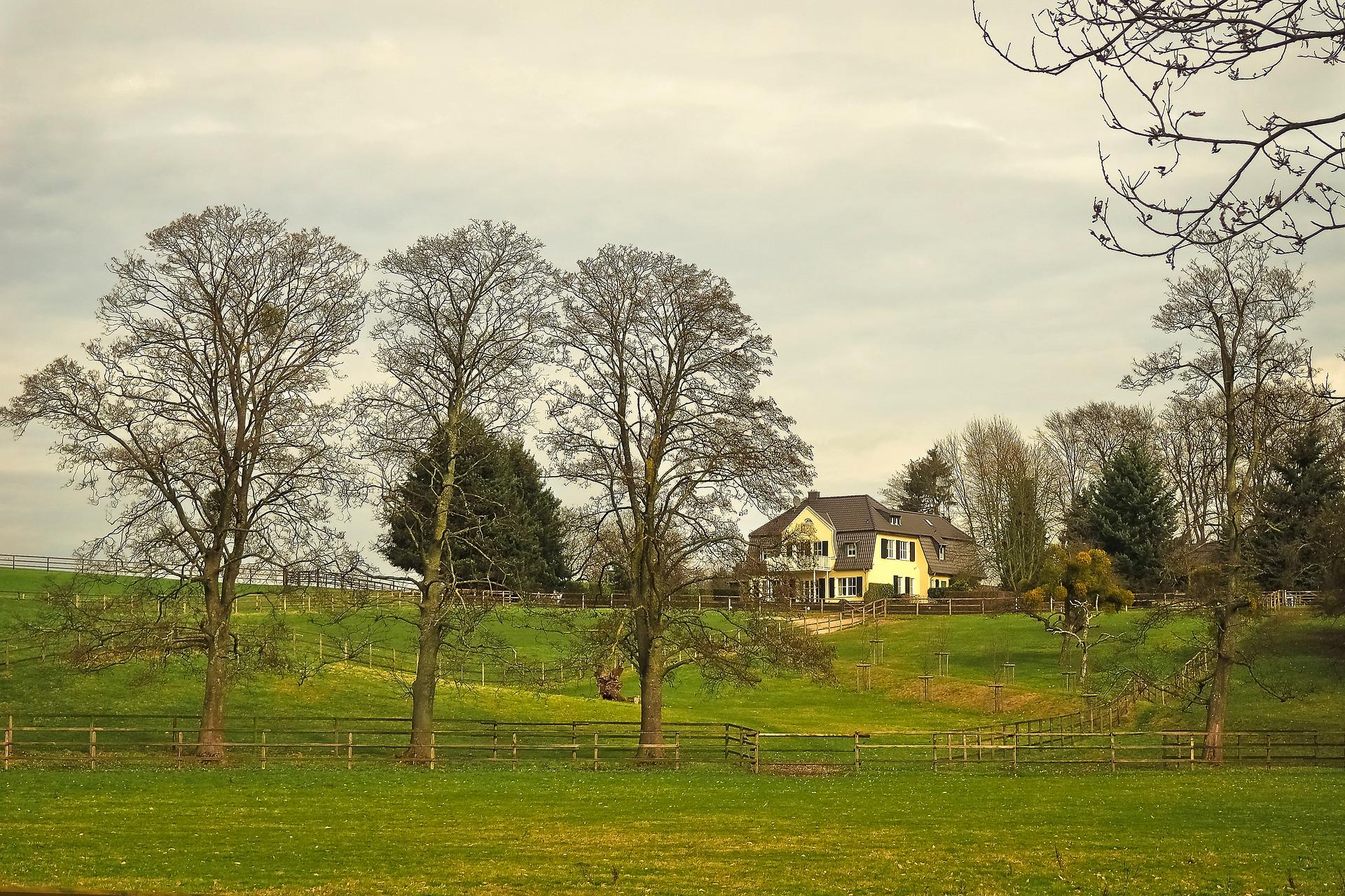 Farm house on land