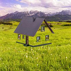 Wohnen im Grünen mit Haus auf dem Land
