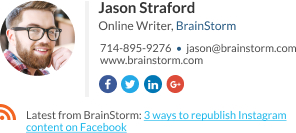 Blogger signature template