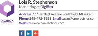 Corporate Email Signature for Marketing