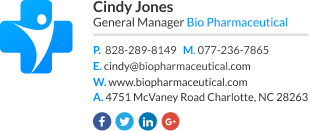 Corporate Email Signature for general manager