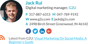 Gmail Email Signature marketing manager template