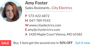 Gmail Email Signature sales assistant template