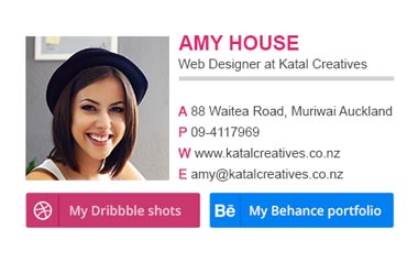 Email signature for Web Designer