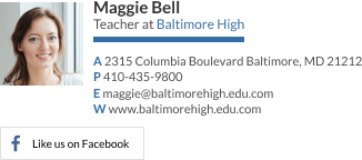 Personal Email Signature Examples - Teacher [Facebook]