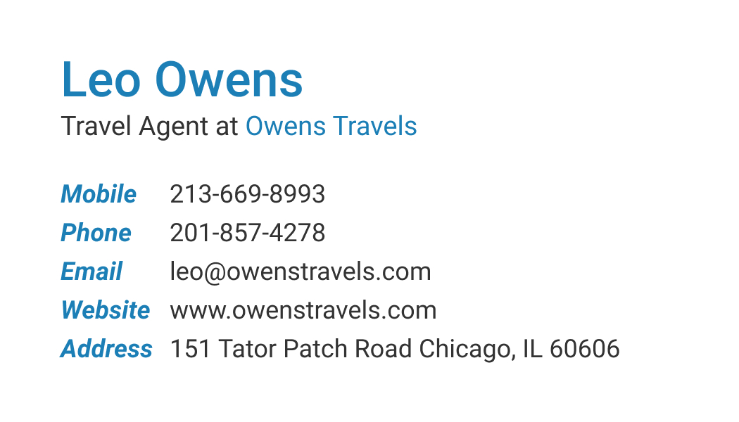Wisecard Travel Agent front