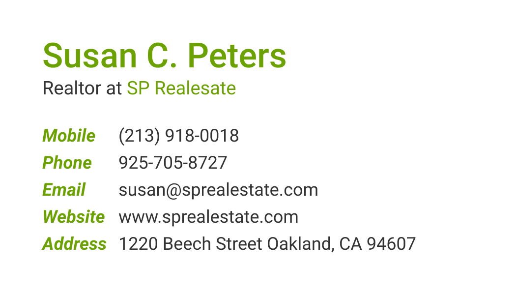 Wisecard Real Estate Broker front