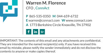 Company Email Signature for CFO