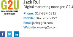 Company Email Signature for digital marketing manager