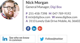 Company Email Signature for general manager