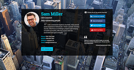 Sam Miller CEO Personal Website
