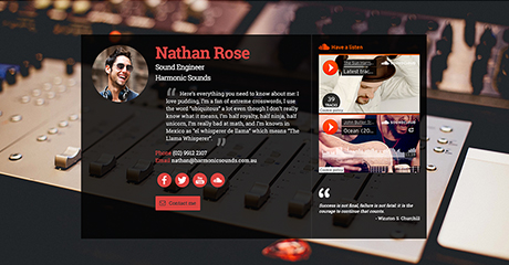 Nathan Rose Sound Engineer Personal Website