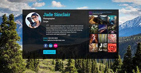 Jade Sinclair Photographer Personal Website