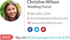 Outlook Email Signature wedding florist template
