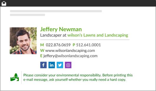 WiseStamp's Elegant email signature template