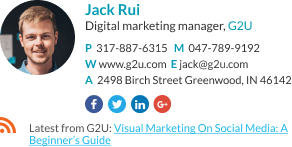 Email signature for marketing manager