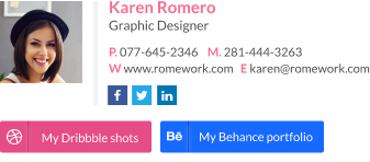 Email signature for designer