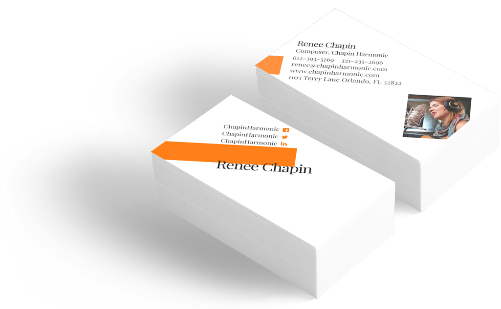 Professional business cards wisecard cards for musician colourmoves Image collections