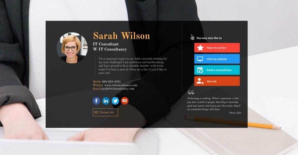 WiseIntro for it-consultant