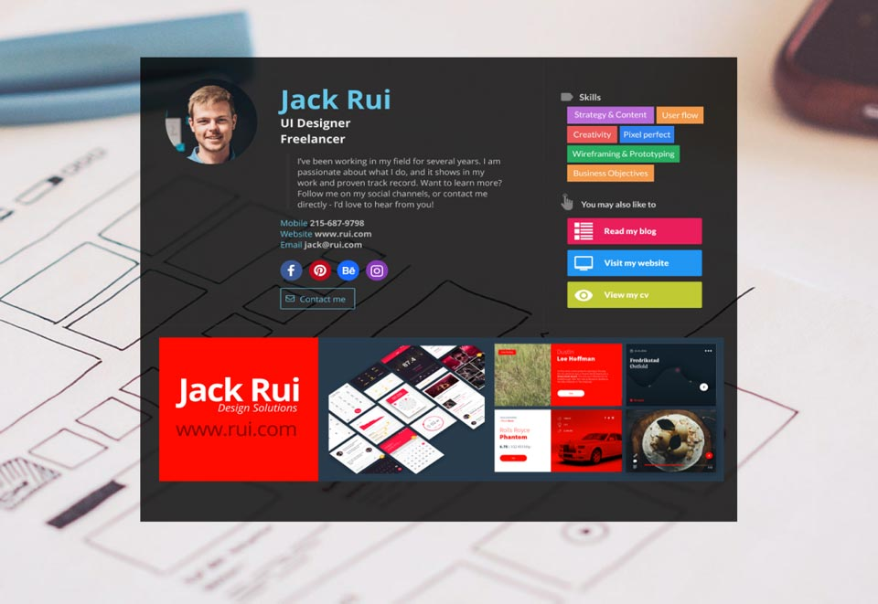 WiseIntro page for UI Designer