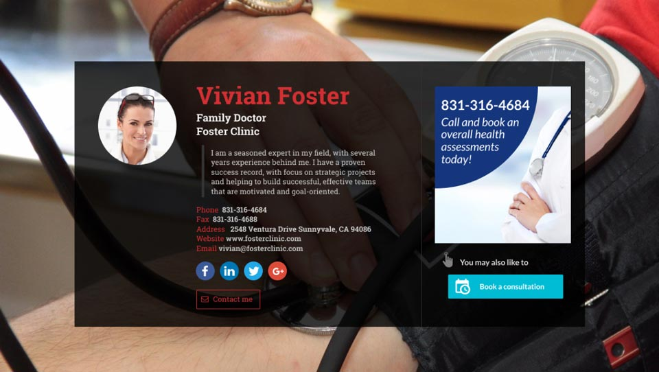 WiseIntro webpage for Family Doctor