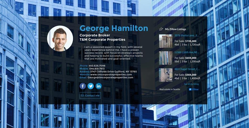 WiseIntro webpage for Corporate Broker