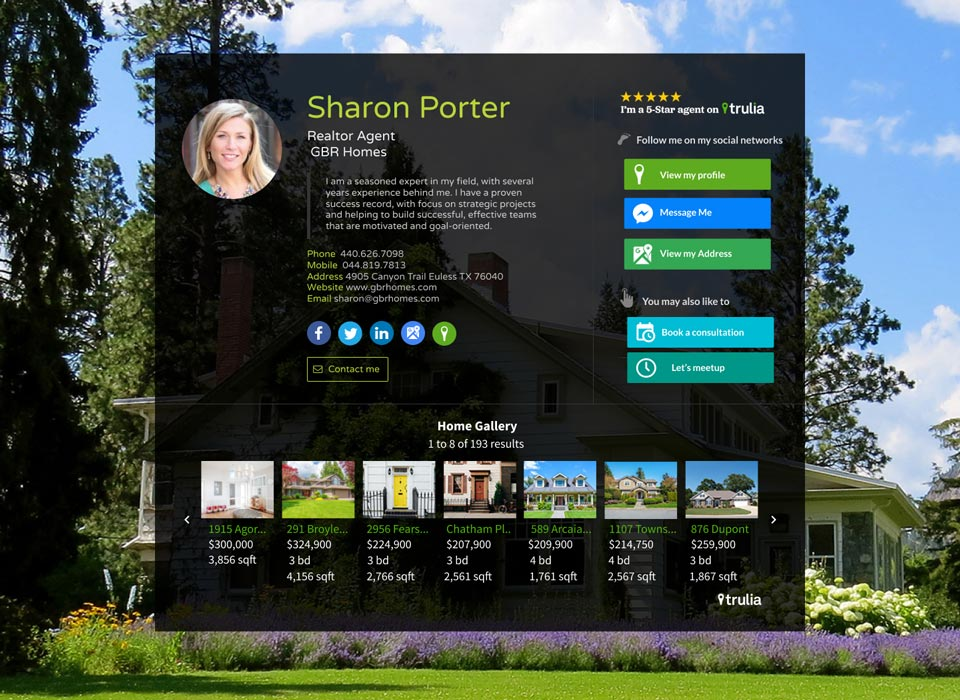 WiseIntro webpage for Realtor Agent