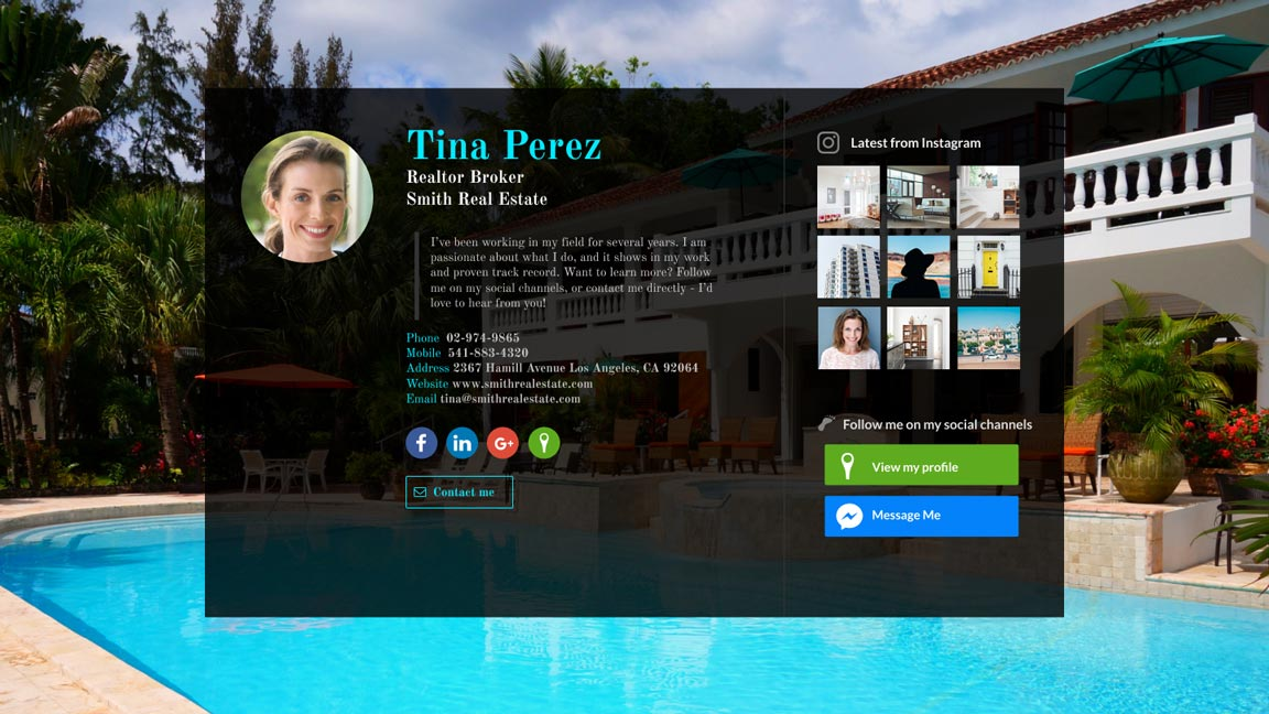 WiseIntro webpage for Realtor Broker
