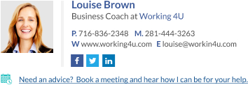 WiseStamp email signature for Business Coach