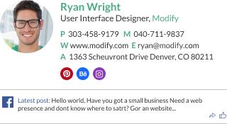 WiseStamp email signature for User Interface Designer