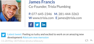 WiseStamp email signature for Co-Founder