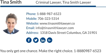 WiseStamp email signature for Criminal Lawyer