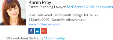 WiseStamp email signature for Estate Planning Lawyer
