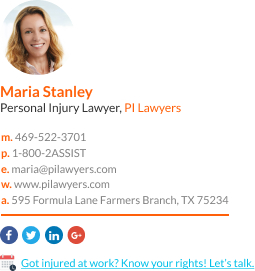 WiseStamp email signature for Personal Injury Lawyer