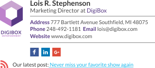 WiseStamp email signature for Marketing Director
