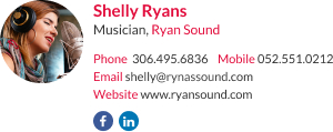 WiseStamp email signature for Musician