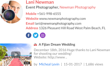 WiseStamp email signature for Event Photographer