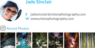 WiseStamp email signature for Landscape Photographer
