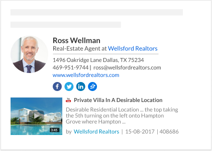 WiseStamp email signature for Real-Estate Agent