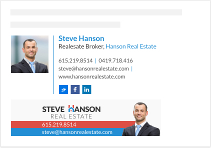 WiseStamp email signature for Realestate Broker