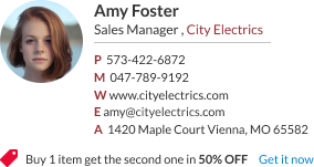 WiseStamp email signature for Sales Manager