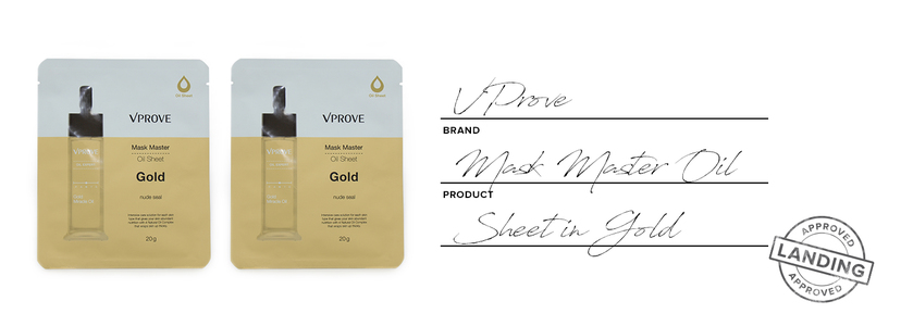 Vprove mask master oil sheet in gold