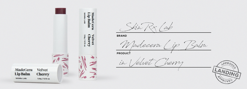 Skinrx lab madecera lip balm in velvet cherry